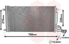 радиатор кондиционера VAG 6R0820411D
